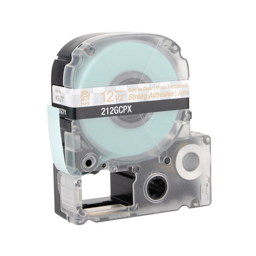 "Epson 212GCPX 1/2"" Clear Glossy Polyester Label PX Tape"