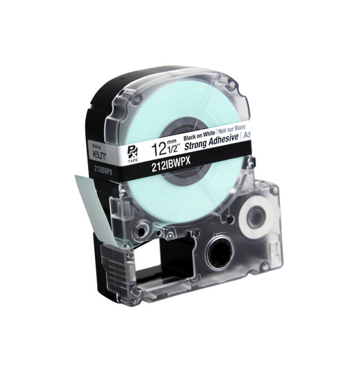 "Epson 212IBWPX 1/2""  White Glossy Polyester Label PX Tape"