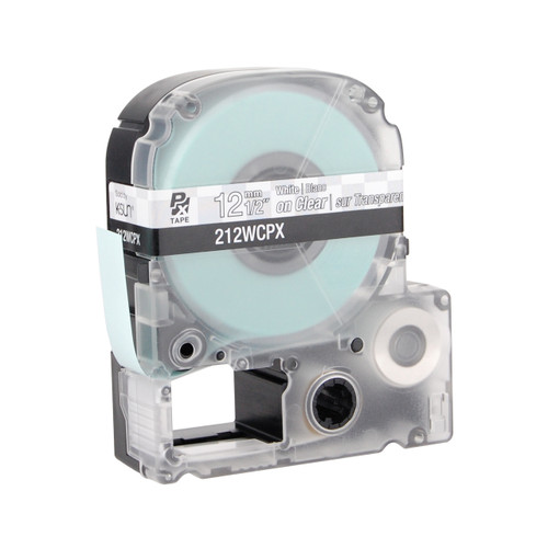"""Epson 212WCPX 1/2"""" Clear Glossy Polyester Label PX Tape"""