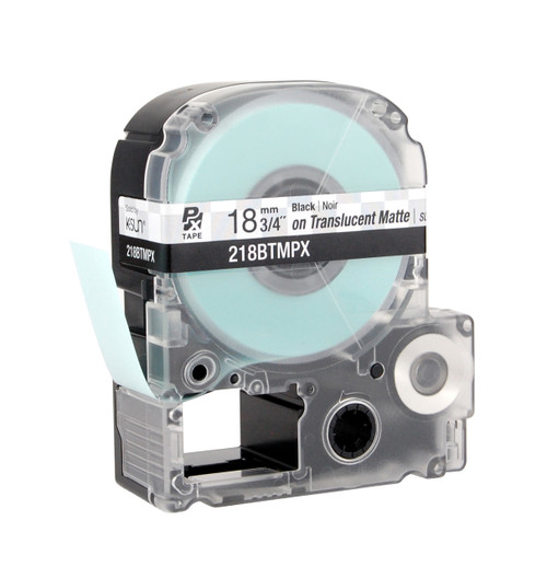 "Epson 218BTMPX 3/4"" Translucent Matte Polyester Label PX Tape"