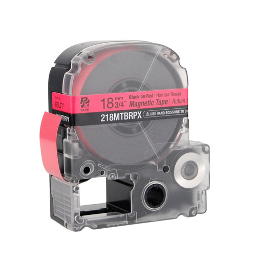 """Epson 218MTBRPX 3/4"""" Red Glossy Magnetic PX Tape"""