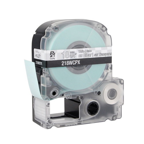 "Epson 218WCPX 3/4"" Clear Glossy Polyester Label PX Tape"