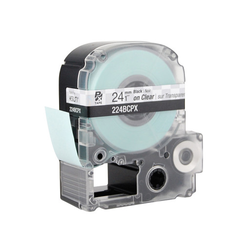 "Epson 224BCPX 1"" Clear Glossy Polyester Label PX Tape"