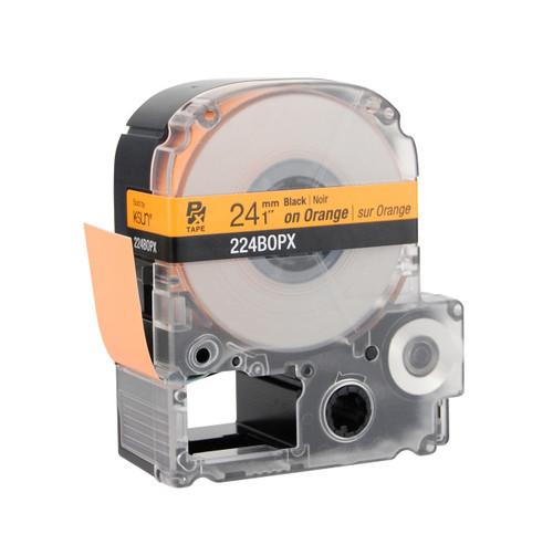 "Epson 224BOPX 1"" Orange Glossy Polyester Label PX Tape"