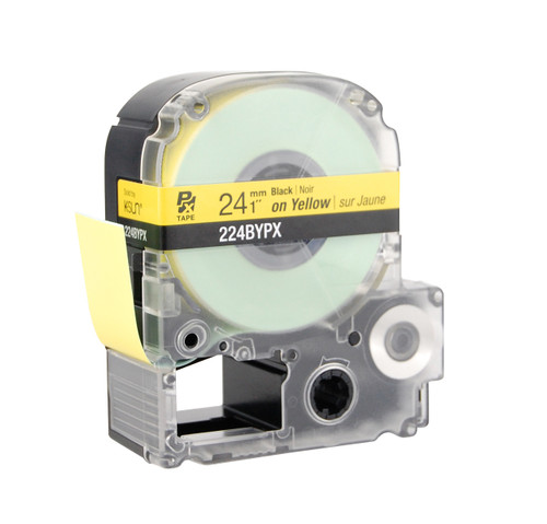"""Epson 224BYPX 1"""" Yellow Glossy Polyester Label PX Tape"""