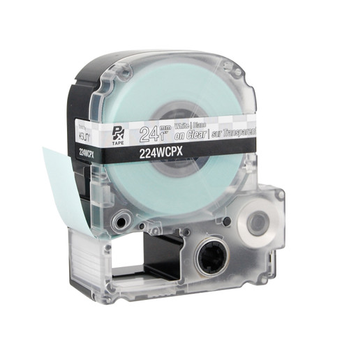 """Epson 224WCPX 1"""" Clear Glossy Polyester Label PX Tape"""