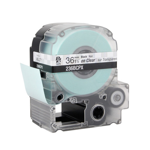 "Epson 236BCPX 1 1/2"" Clear Glossy Polyester Label PX Tape"