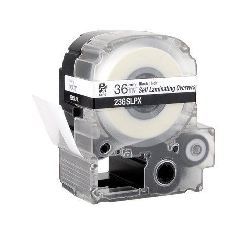 """Epson 236SLPX 1 1/2"""" Clear Glossy Self Lamination Label PX Tape"""