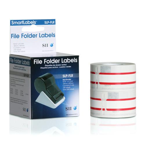 Seiko SLP620/650 0.5625 x 3.375 White File Folder Inkjet Labels SLP-FLR