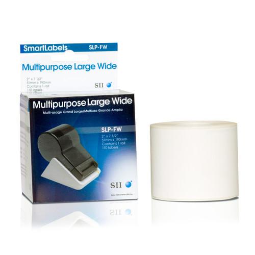 Seiko SLP620/650 2 x 7.5 White Multipurpose Inkjet Labels SLP-FW