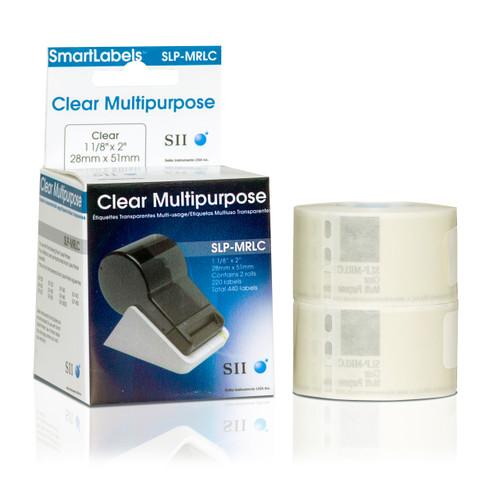 Seiko SLP620/650 1.125 x 2 White Multipurpose Inkjet Labels SLP-MRLC
