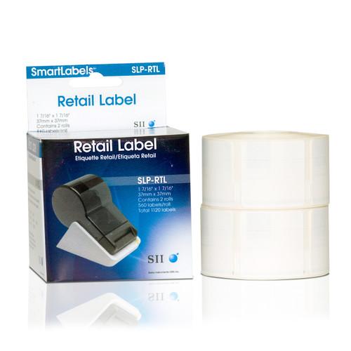 Seiko SLP620/650 1.4375 x 1.4375 White Retail Inkjet Labels SLP-RTL