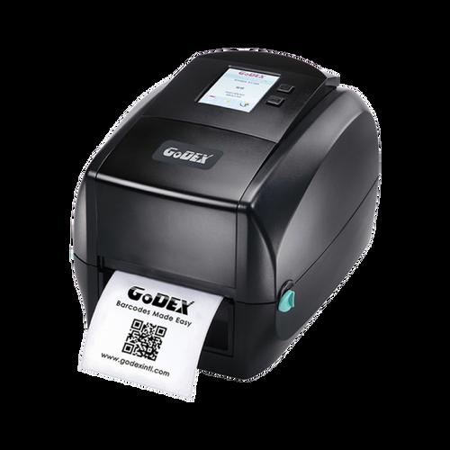 "Godex RT863i 4"" Thermal Transfer Barcode Label Maker, Color Display, 600 dpi, 3 ips 011-863007-000"
