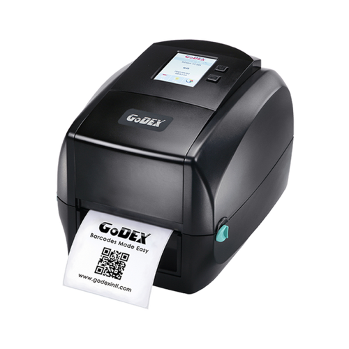 "Godex RT863i 4"" Thermal Transfer Barcode Label Maker, Color Display, 600 dpi, 3 ips 011-863007-000"