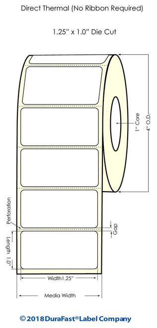 Blank Labels - Direct Thermal Labels