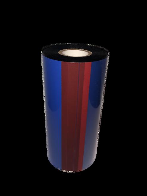 "Zebra 4.33""x984 ft R510C Red (185) Durable Resin-24/Ctn thermal transfer ribbon"