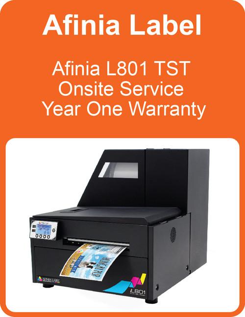 Afinia L801 TST Onsite Service Year One Warranty (AL-32617)