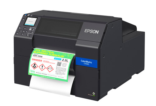 "Epson ColorWorks C6500P Colour Label Printer w Peeler | 8"" Label Printer (C31CH77201)"