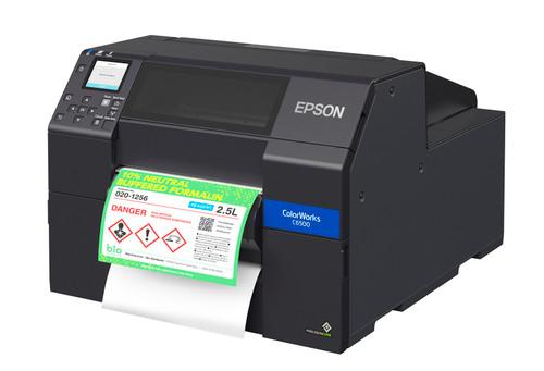 "Epson ColorWorks C6500P Colour Label Printer w Peeler | 8"" Label Printer (C31CH77201)"