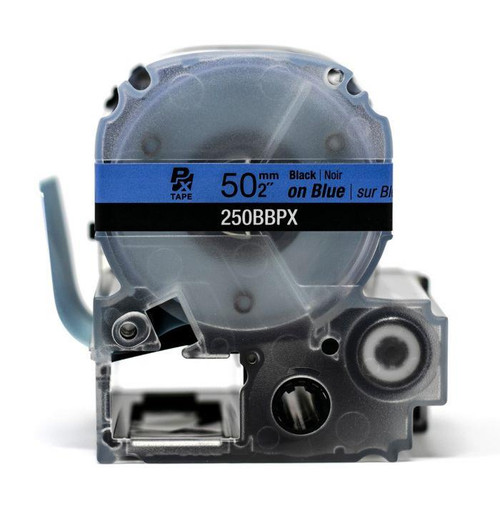 "Epson/K-Sun Z-Series 50MM 2"" X 26.2' BLACK ON BLUE PET TAPE 8M"