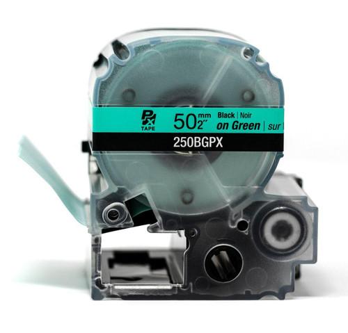 "Epson/K-Sun Z-Series 50MM 2"" X 26.2' BLACK ON GREEN PET TAPE 8M"