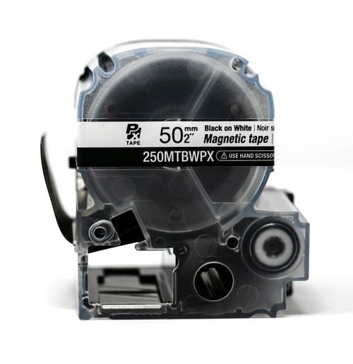 """Epson/K-Sun Z-Series 50MM 2"""" X 4.9' BLACK ON WHITE MAGNET TAPE 1.5M"""
