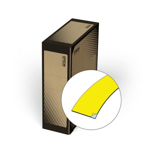 "Epson/K-Sun Z-Series BULK 50MM 2"" X 147.6' BLACK ON YELLOW VINYL TAPE 45M"
