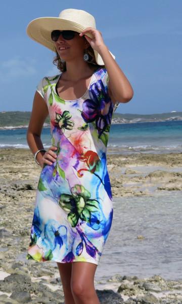 81ef0672e2 Water Whimsy Cap Sleeve Dress