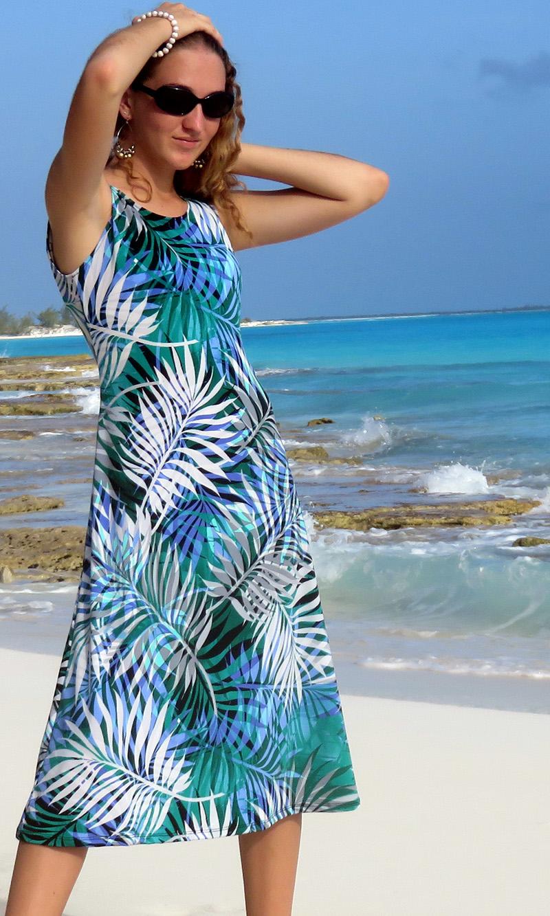 Jade Palms Ella Midi Dress