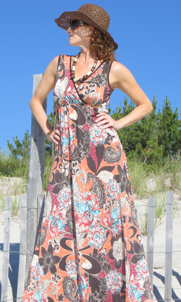 Aussie Tattoo Long Wrap Dress-ONLY SMALL AVAILABLE!!