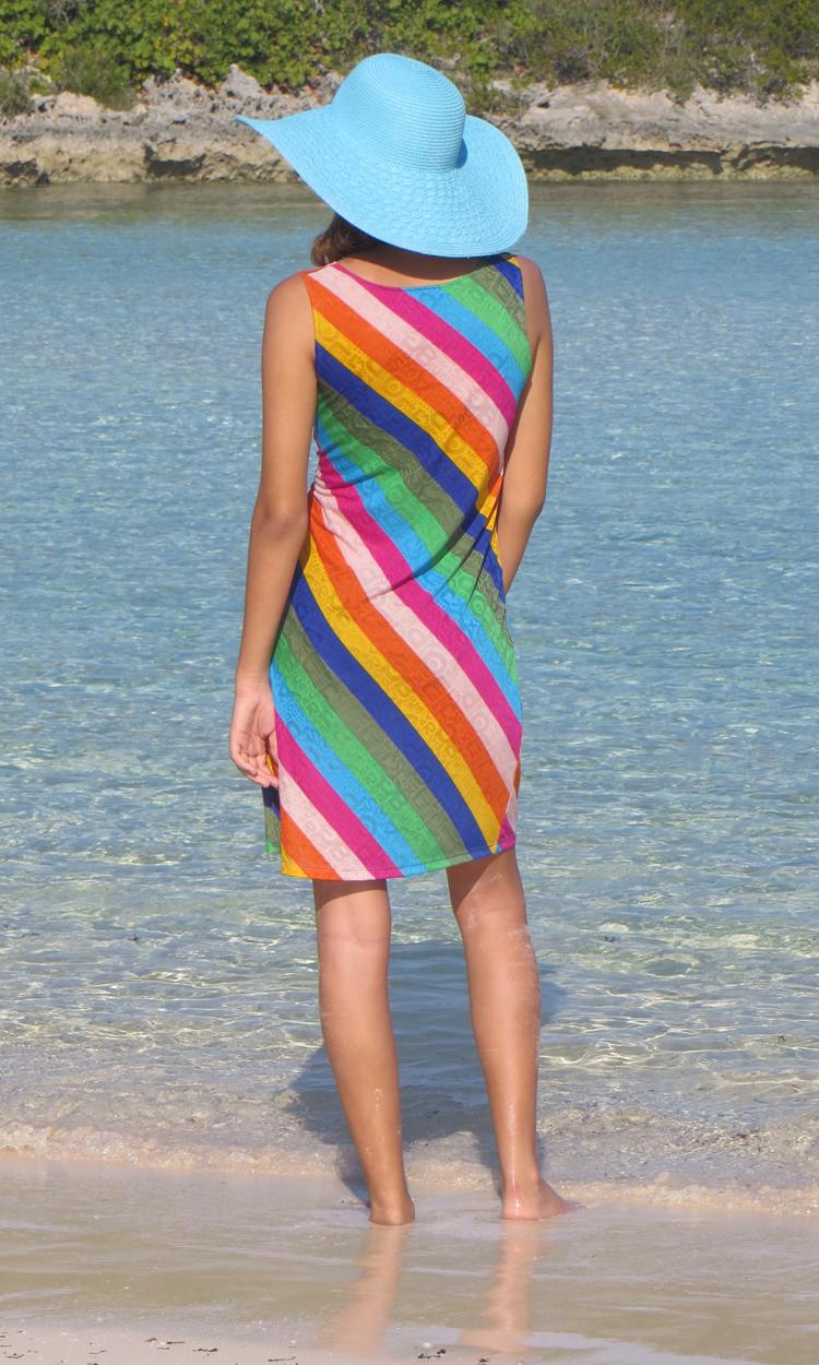 Colorful Stripes Tank Dress