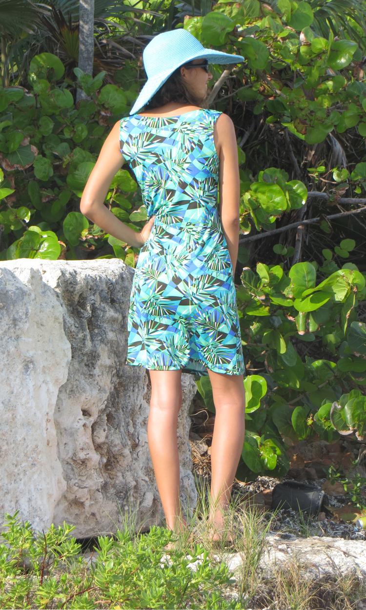 Fractured Palm Tank Dress