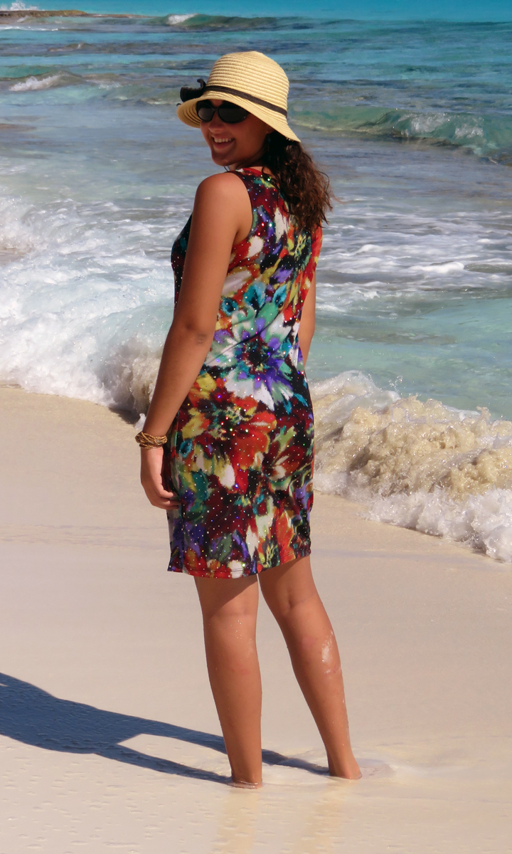 Floral Sparkle Tank Dress