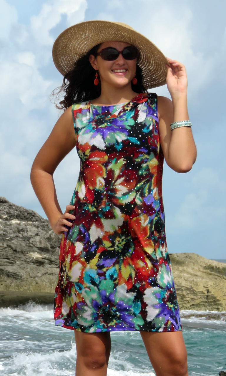 Floral Sparkle Bow Dress