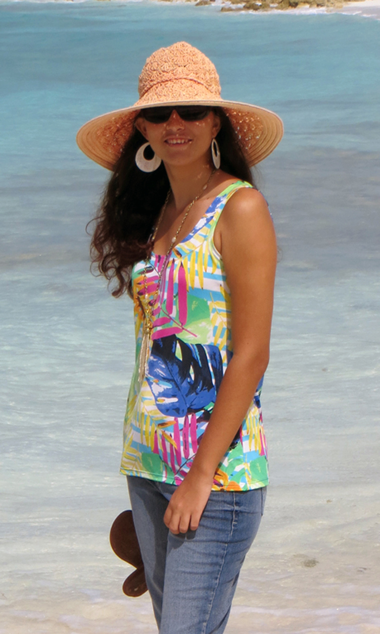Island Flora Tank Top-ONLY X-SMALL AVAILABLE!!
