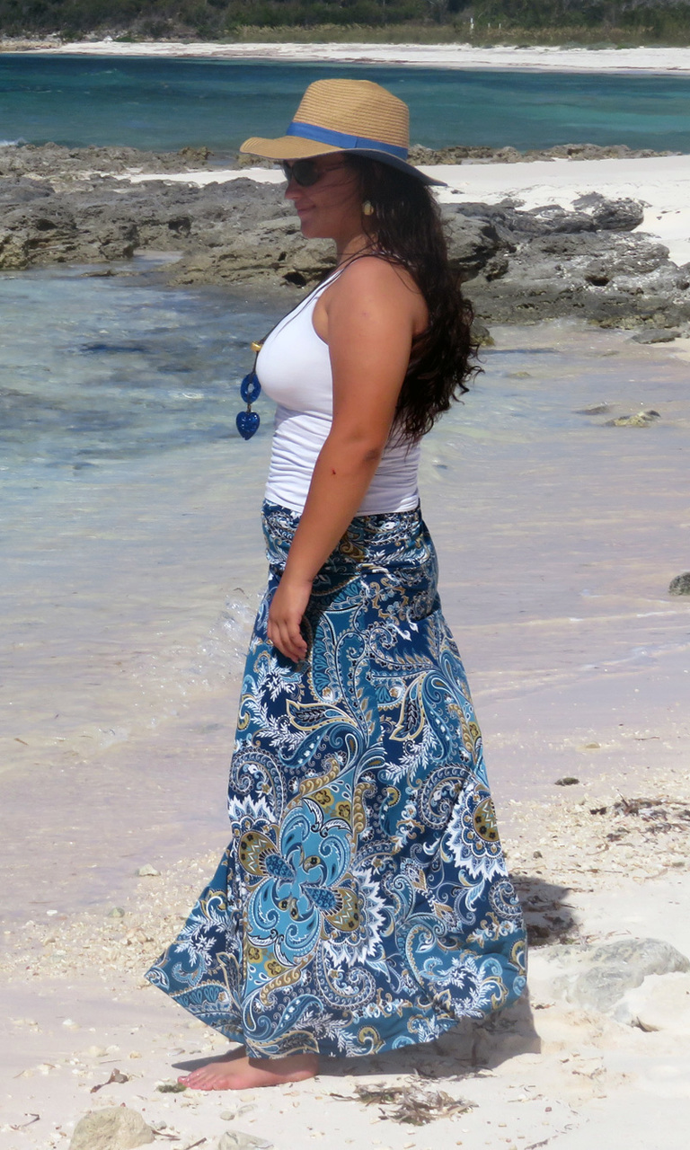 Royal Paisley Long Convertible Skirt