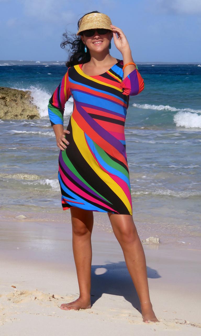 Primary 3/4 Sleeve Dress