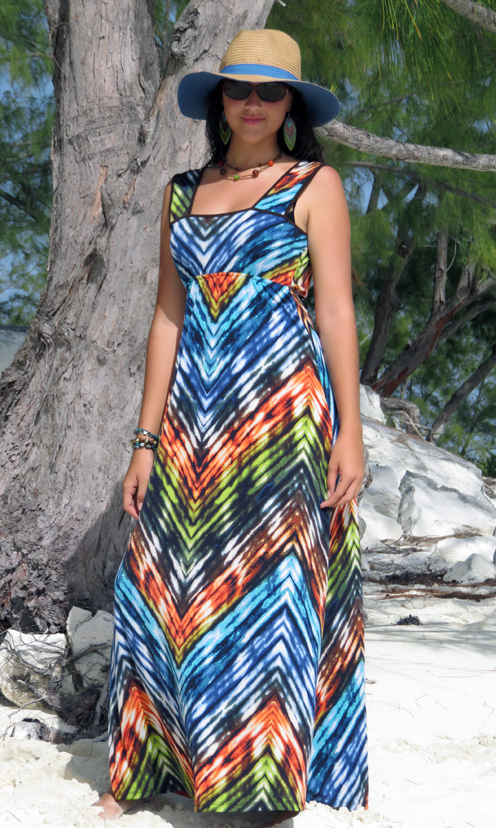 Jazzy Long Wrap Dress