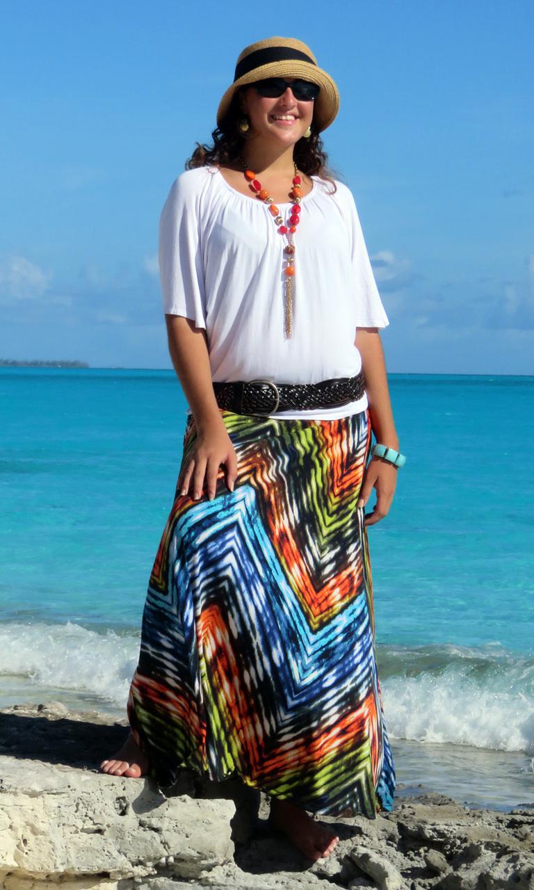 Jazzy Long Convertible Skirt