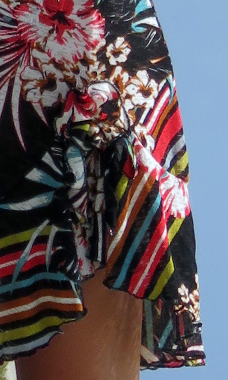Printed Cover Flip Dress