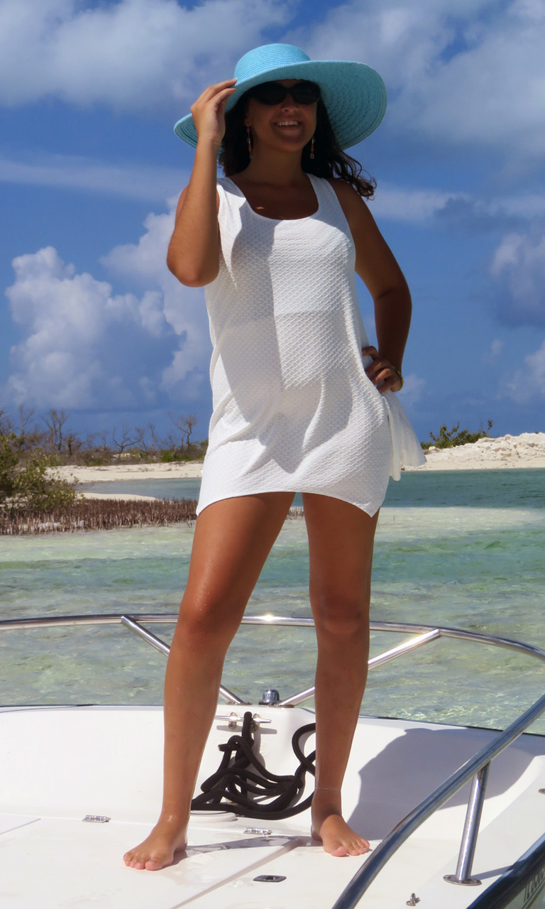 Textured White Lindy Tunic