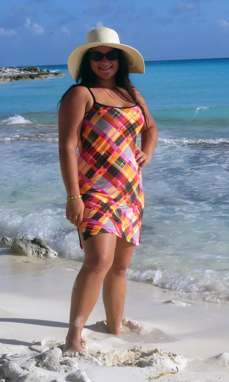 Sunset Plaid Slip Dress