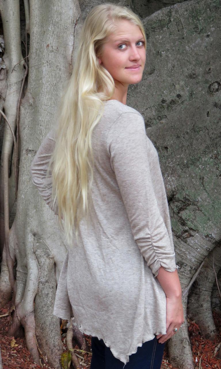 Soft Sweater Knit 3/4 Sleeve Swing Tunic