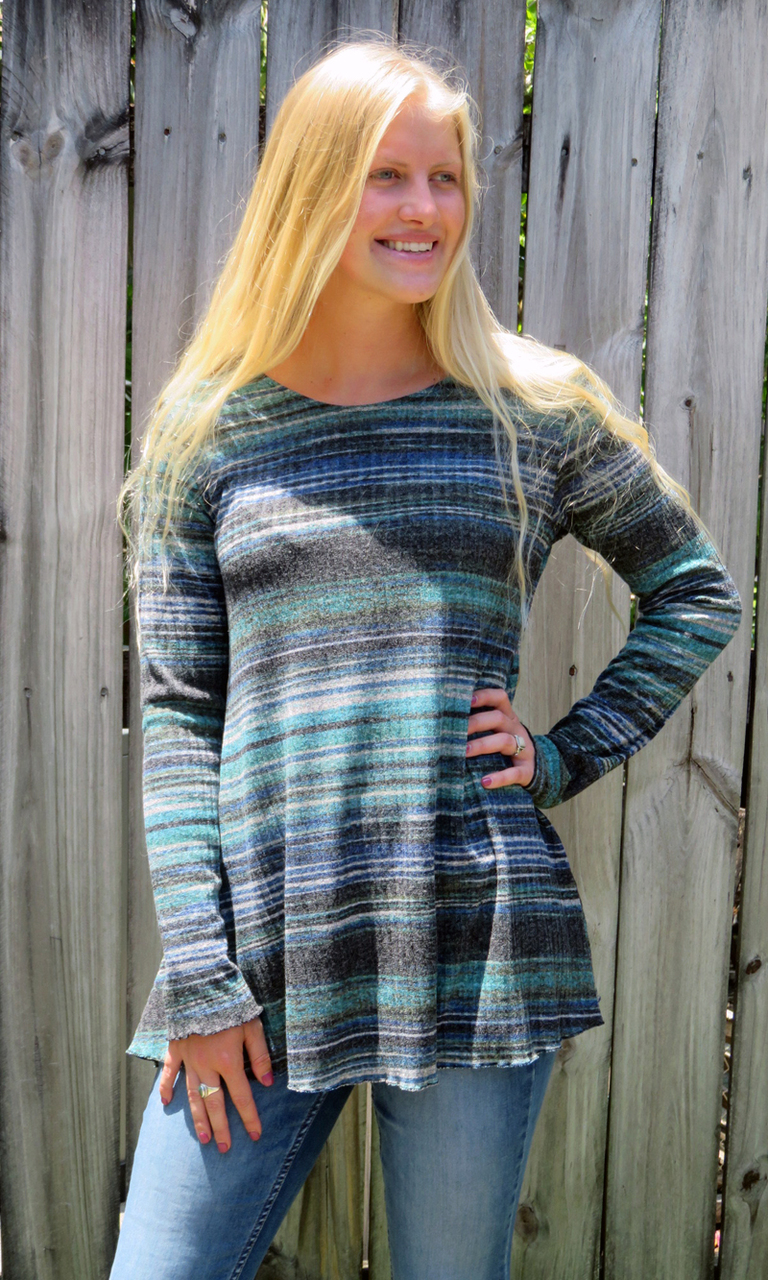 Ribbed Long Sleeve Nancy Tunic