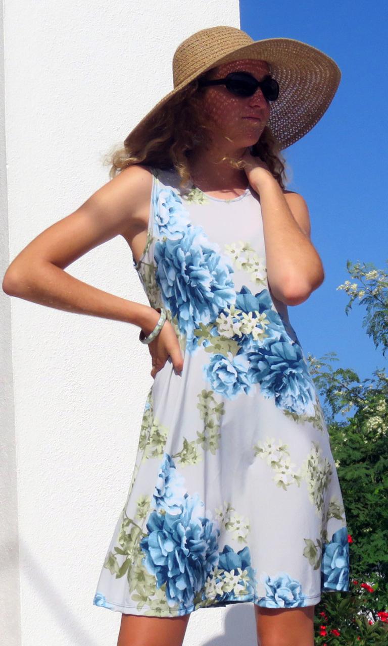 Oxford Bloom Swing Dress