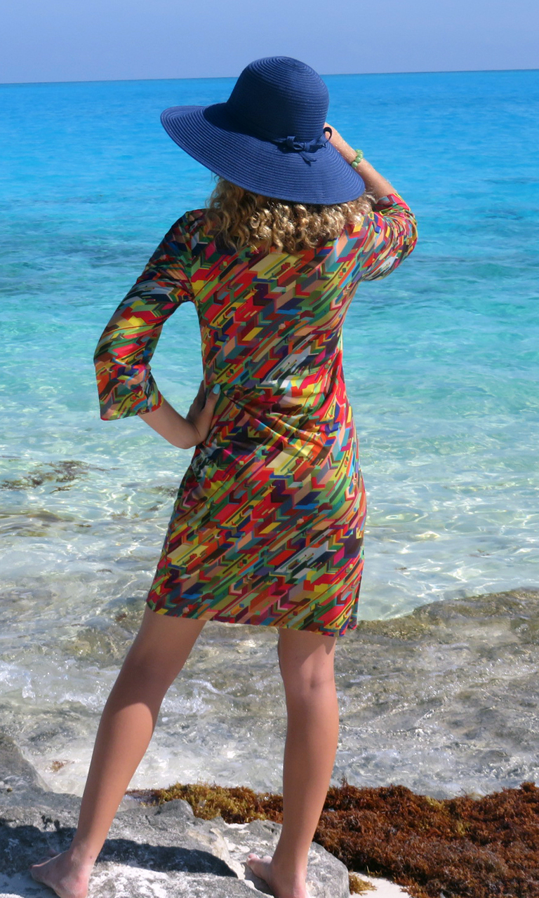 Tetris 3/4 Sleeve Dress
