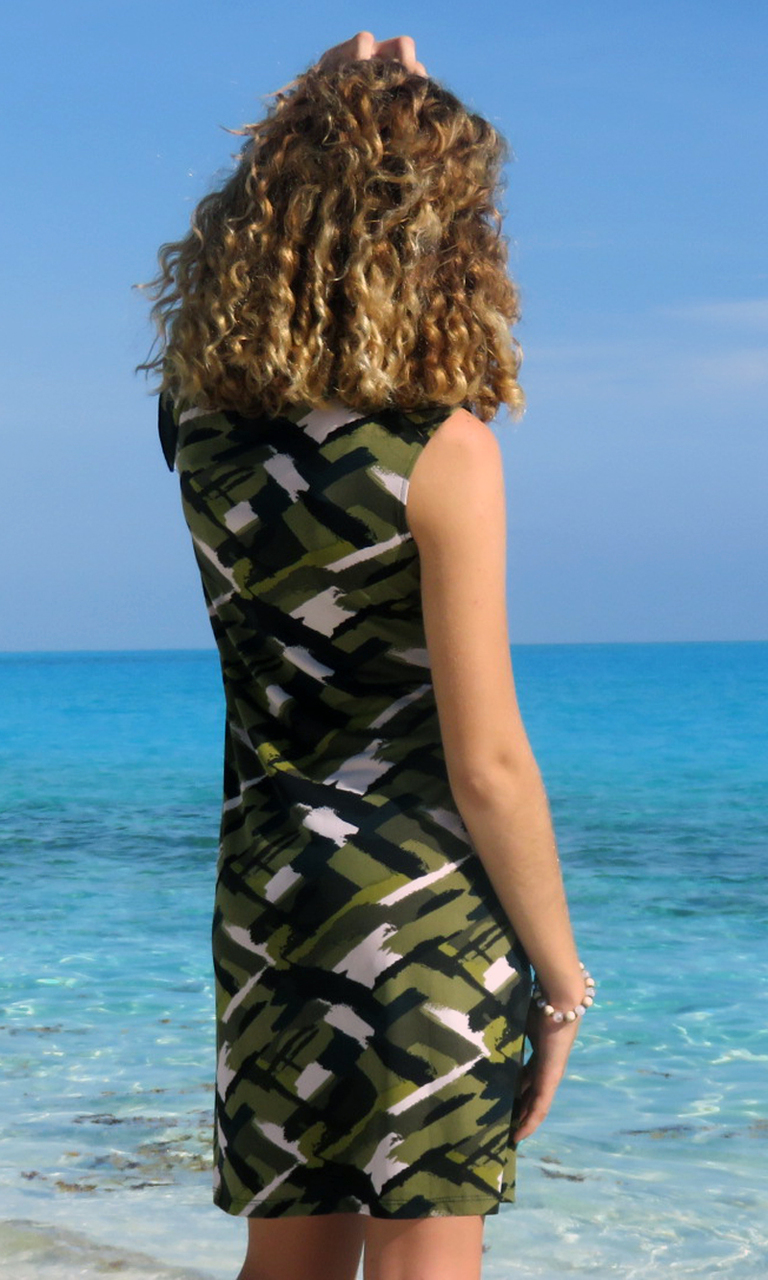 Camouflage Chic Bow Dress