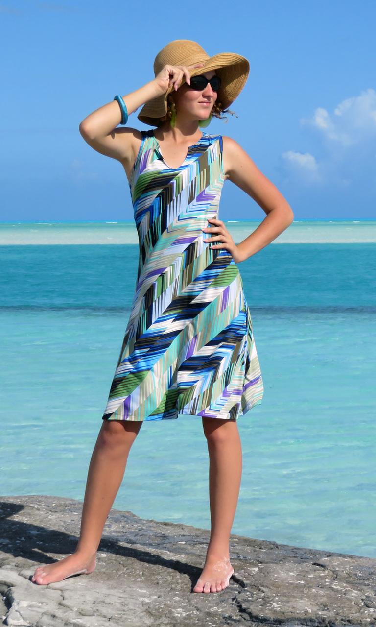 Ocean Sabal Notch Dress