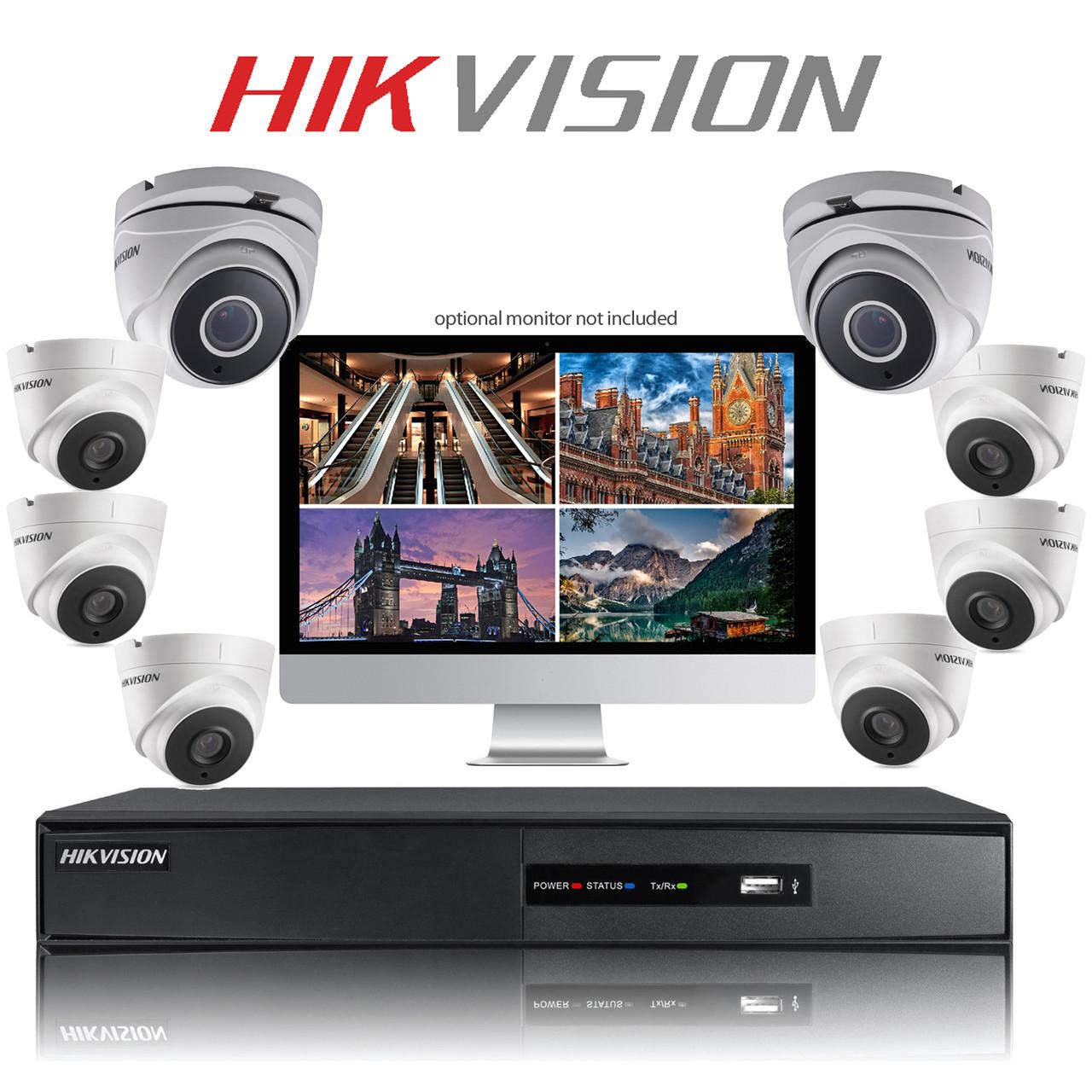 8 Hikvision DIY TurboHD CCTV Dome camera kit with DVR
