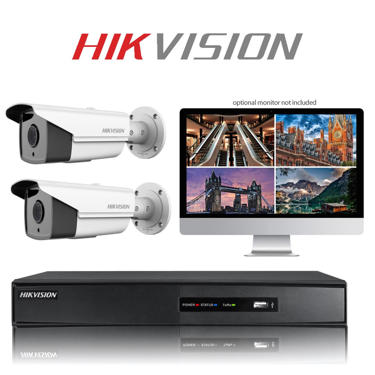 2 Hikvision TurboHD CCTV Bullet camera kit FULL HD DVR